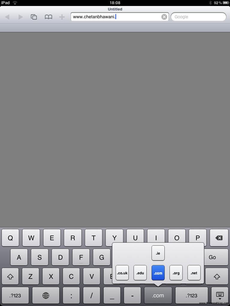 ipad website extension