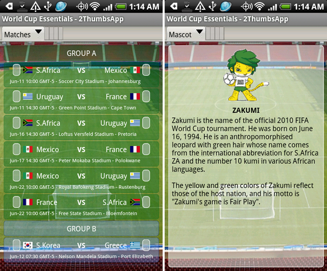 world cup essentials app