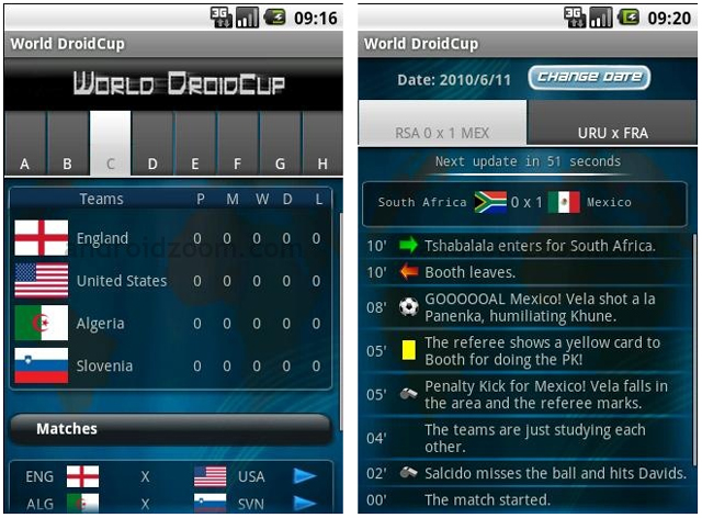 world droidcup app