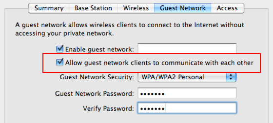 Guest Network Security