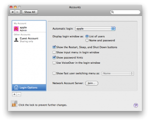 Mac OSX New User Account