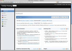 Wordpress Admin Leopard Mac Style