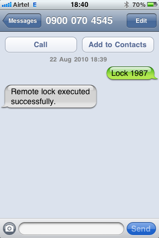 android lock sms