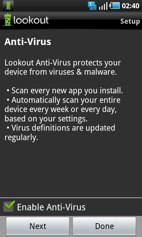 lookout antivirus program