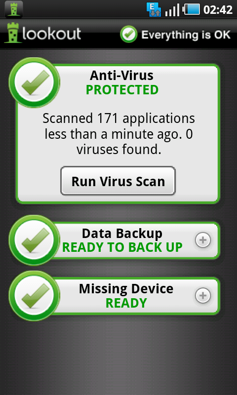 lookout antivirus scan results