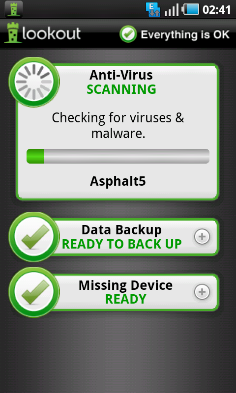 lookout antivirus scanning
