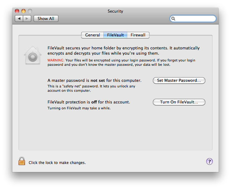 Encrypt data in Mac using FileVault – Mac Security tip