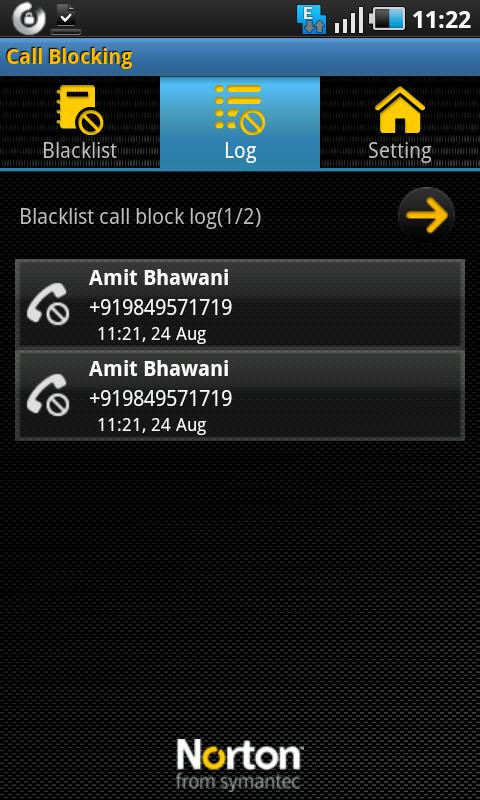 norton call block log