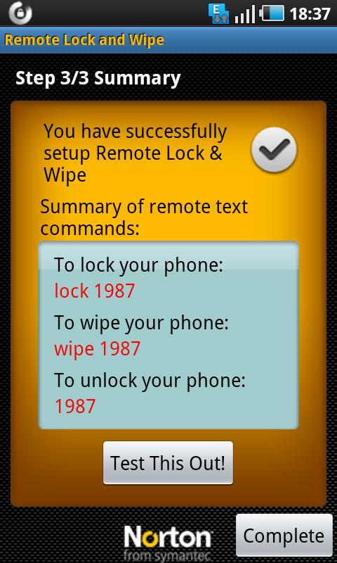 remote lock steps done