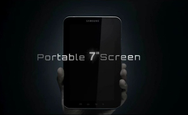 samsung galaxy pad screen