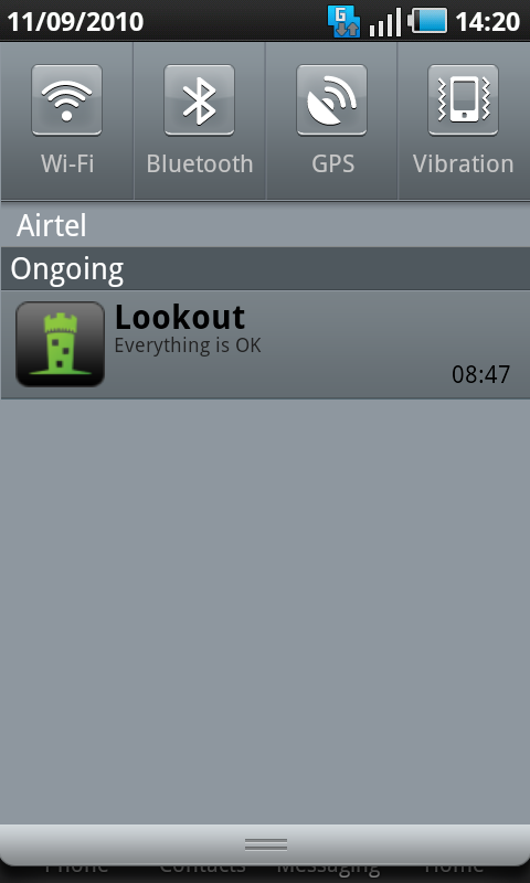 lookout app everything ok