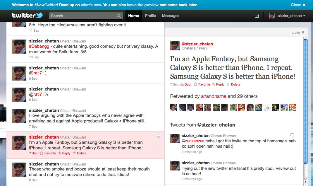 new twitter tweet data