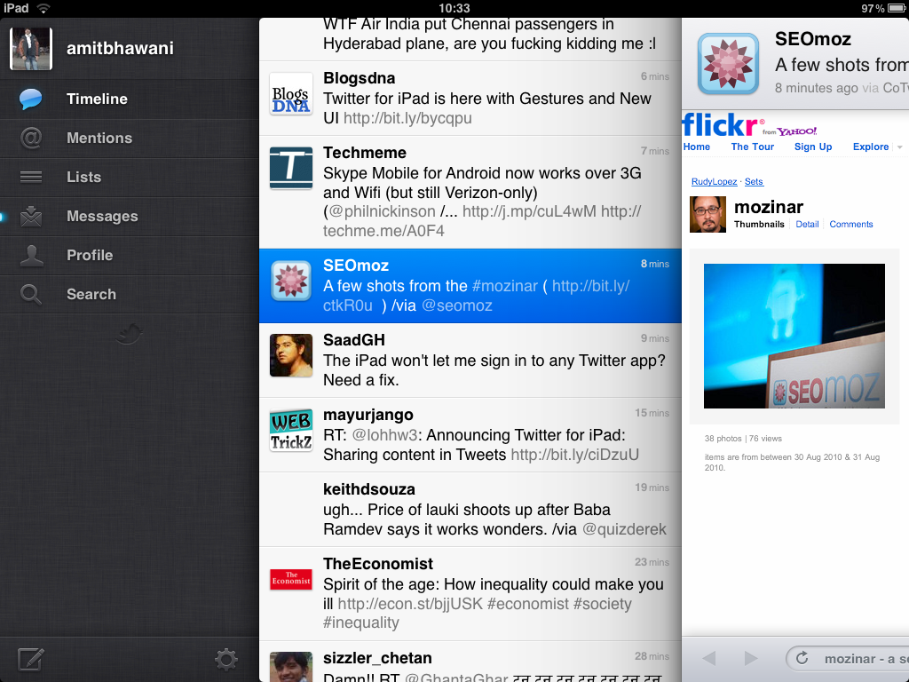 Twitter app for iPad – Features and Download