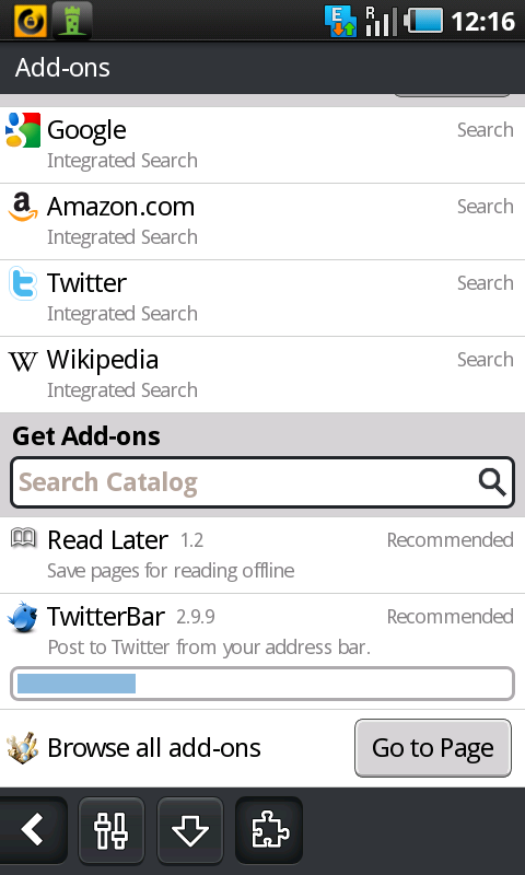 firefox android downloading addons