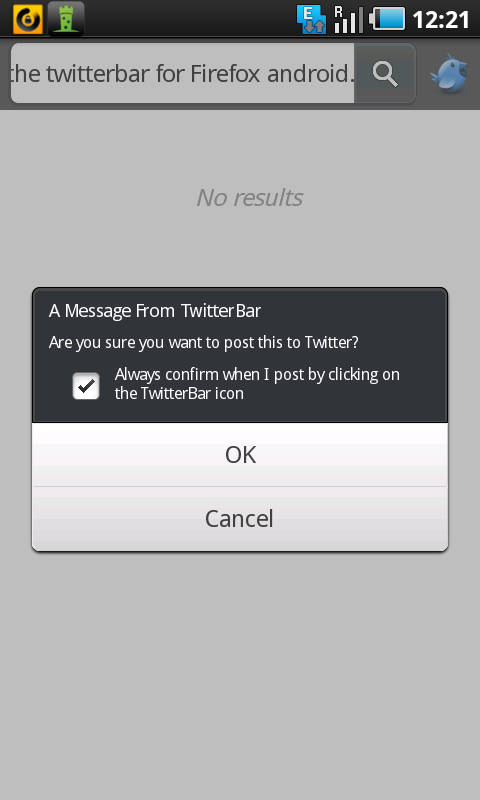 firefox android twitterbar