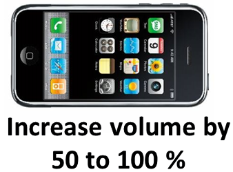 increase volume of your iphone