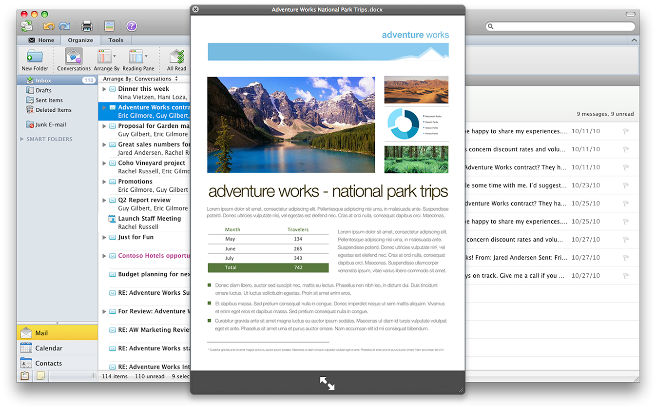 microsoft office for mac 2011 attachment