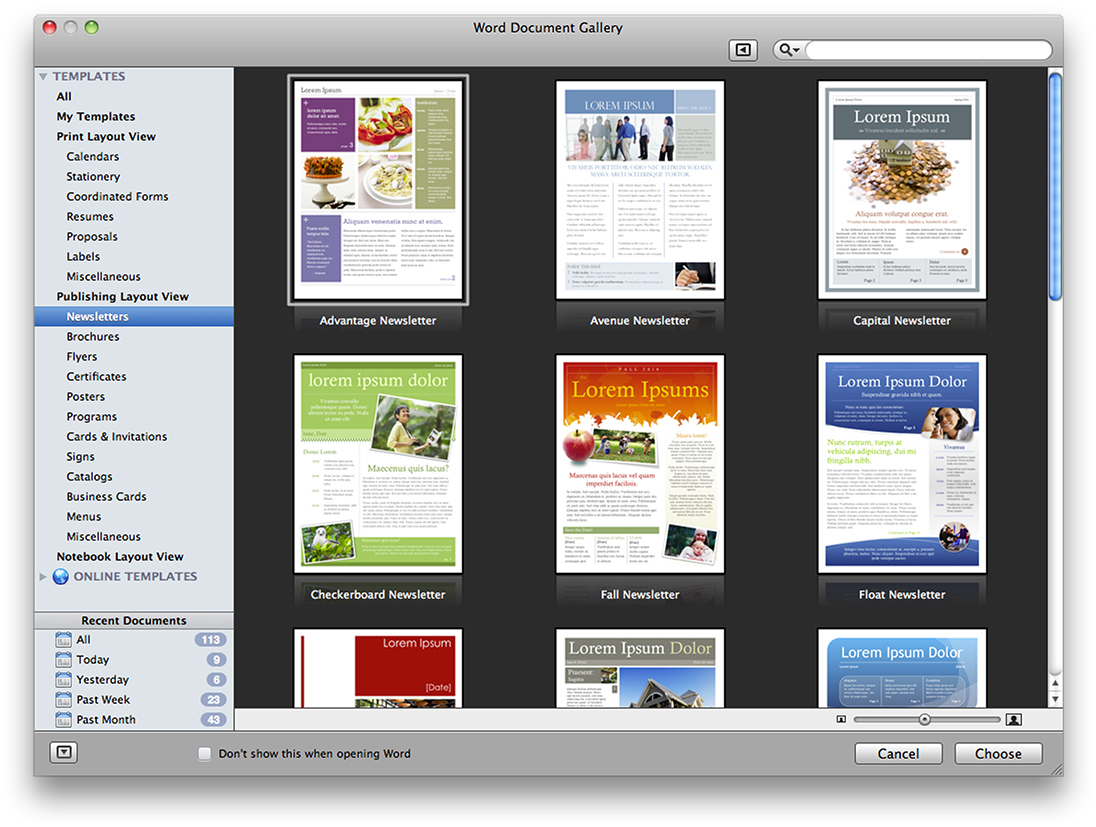 microsoft office for mac 2011 word