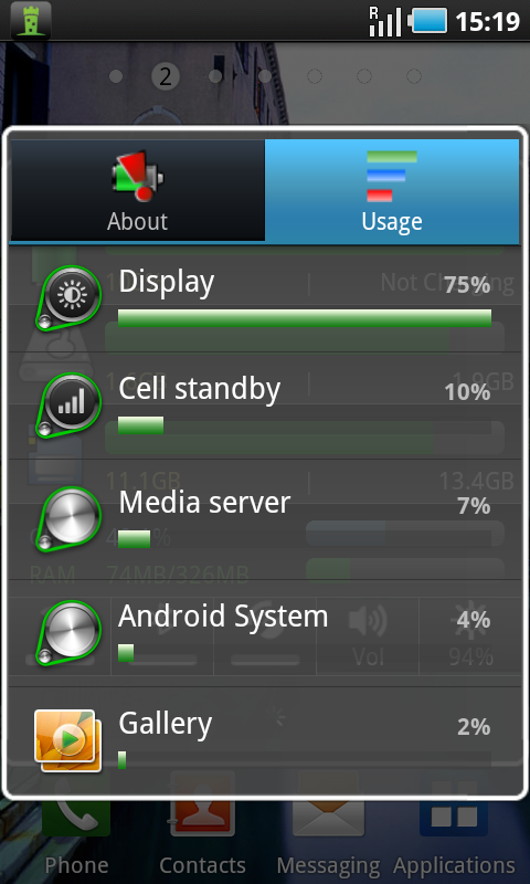 mini info widget usage