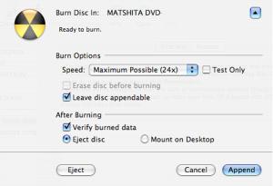 Append disk