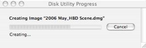 disk utility progress