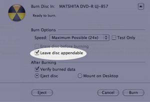 select burning speed