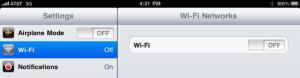 wi fi settings