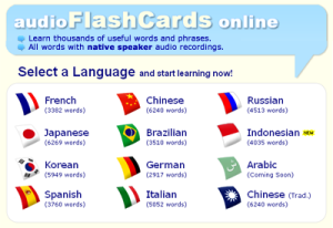 audio flash cards