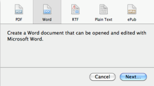 create word document