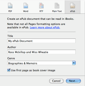 ePub option