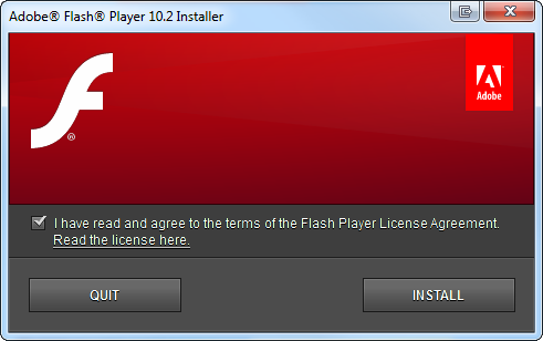 flash player 10.2 install