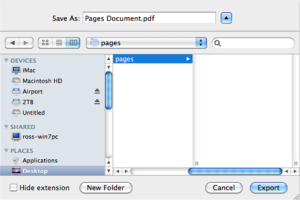 how to save online document as pdf on mac