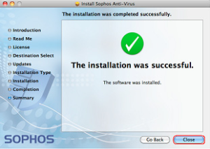 Installation successful