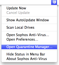 Open Quarantine Manager
