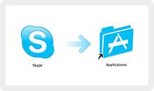 drag skype icon