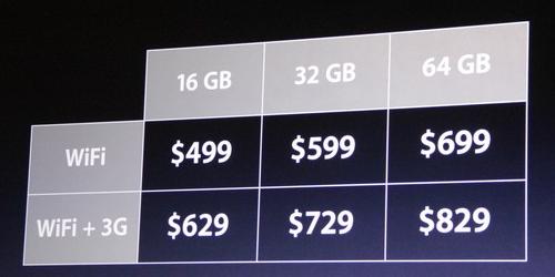 apple ipad 2 pricing