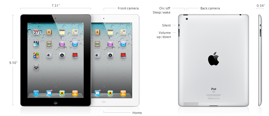 apple ipad 2 specifications