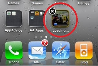 How to stop or remove downloading / installing app in iPhone