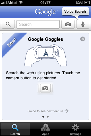 google goggles iphone app