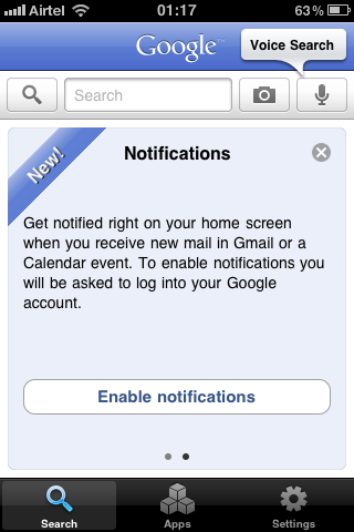 google goggles iphone notifications