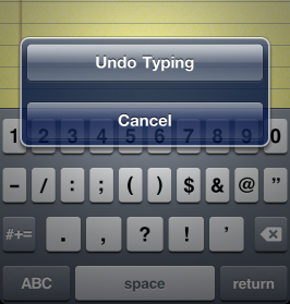 How to Undo things like Cutting, Deleting, Pasting Text etc. in iPhone