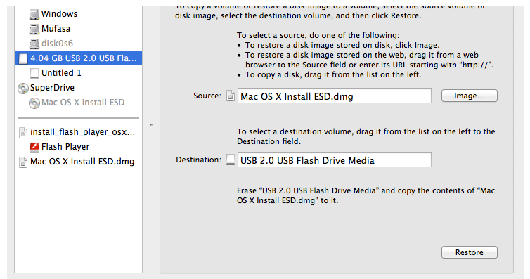create usb drive data mac lion