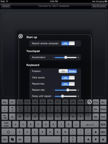 wifi touchpad hd free app ipad settings