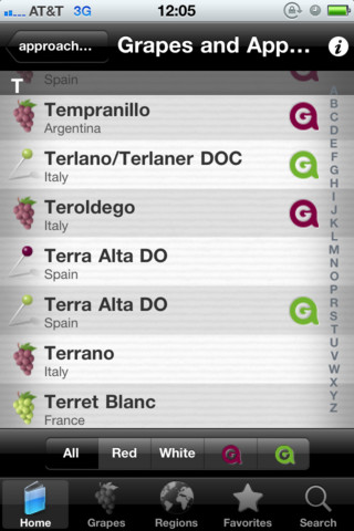 ag wine guide iphone app