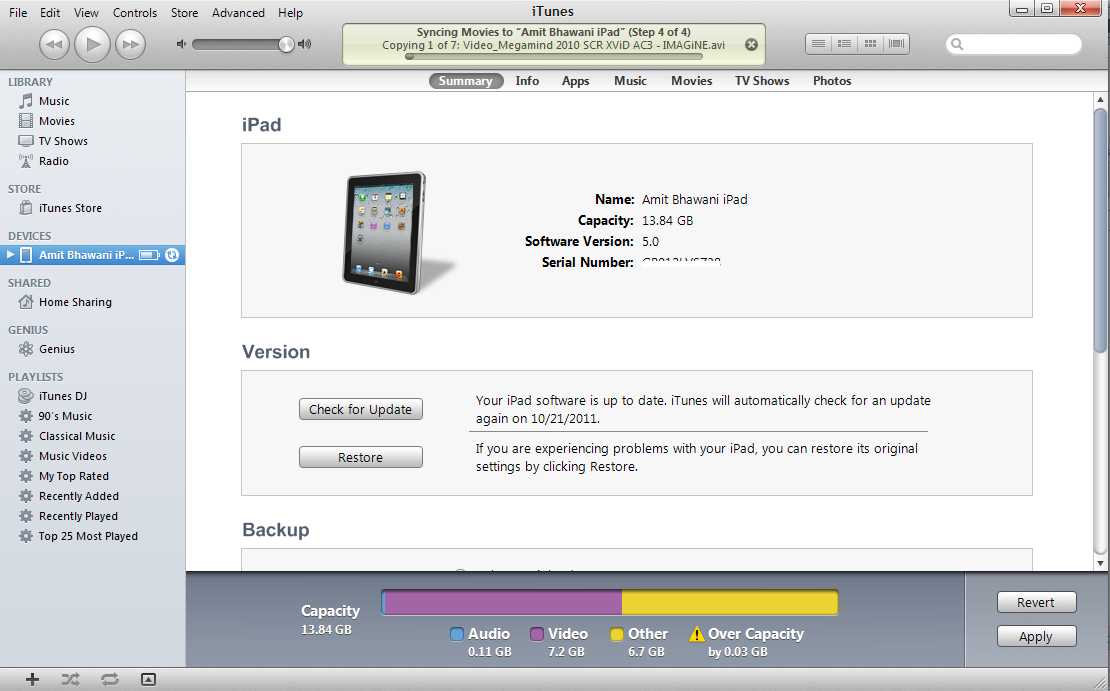 ipad ios 5 version