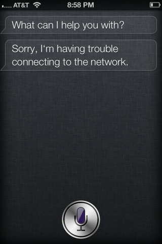iphone siri network problem