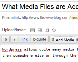 media files upload wordpress