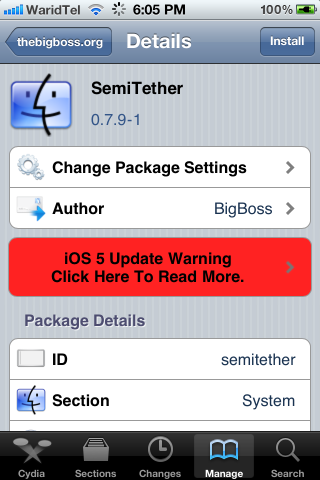 Tethered Jailbreak of iOS 5 Reboots Device Without PC / Mac with SemiTether