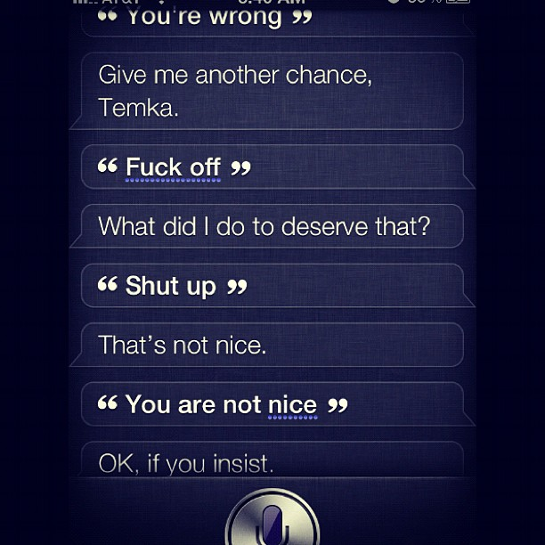 siri accepts not nice