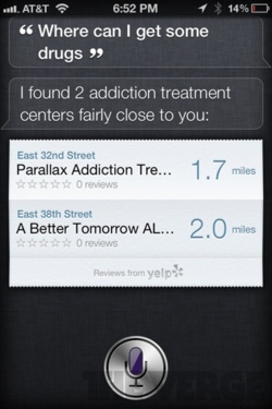 siri drug addiction treatment